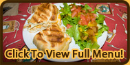Chicken Panini & Garden Salad with Onion Peach Dressing